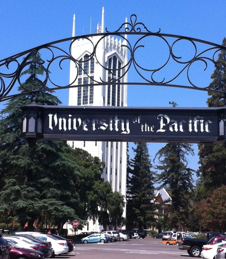 University of the Pacific front entrance
