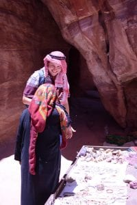 Meeting a local Bedouin woman