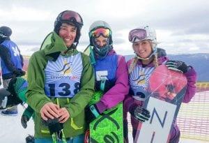 CSU snowboard competitors at the 2016 Snow Uni Games