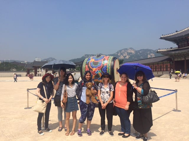 CSU social work students on the beach in South Korea