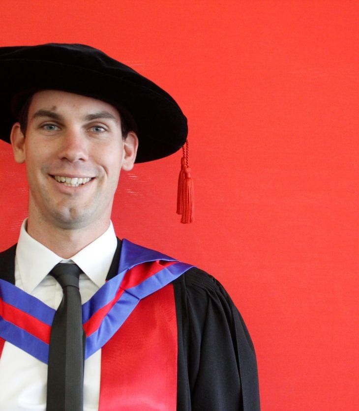 Dr Alistair Murphy at the 2016 CSU Sydney graduation ceremony