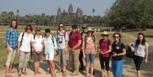 CSU students on tour in Cambodia
