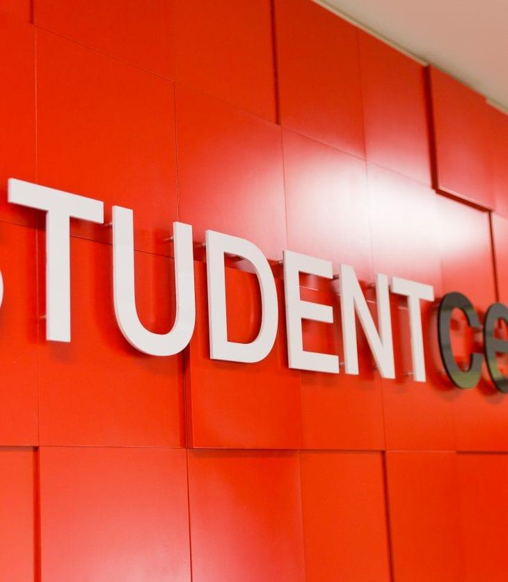 Student Central wall banner at Wagga Wagga