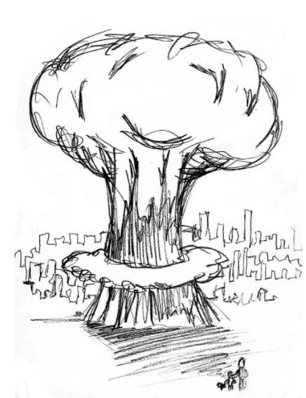 cartoon image of bomb going off