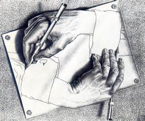 Drawing Hands Illusion by Mc Escher 1948