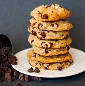 Vegan chocolate chip cookies