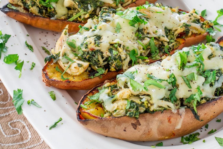 chipotle chicken stuffed sweet potato