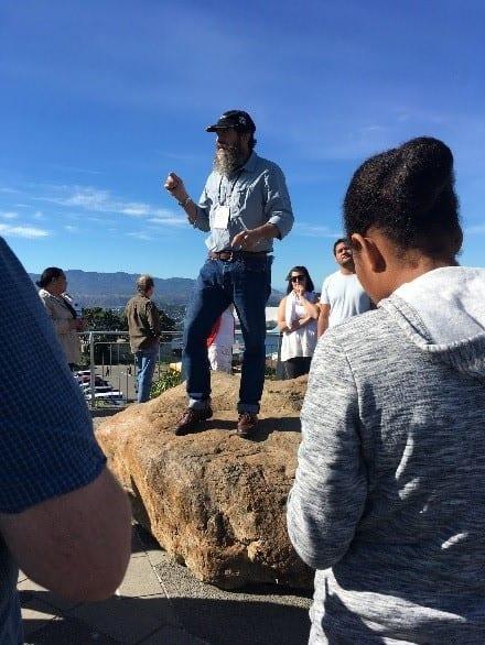 Russ Van Dissen on top of Mount Victoria
