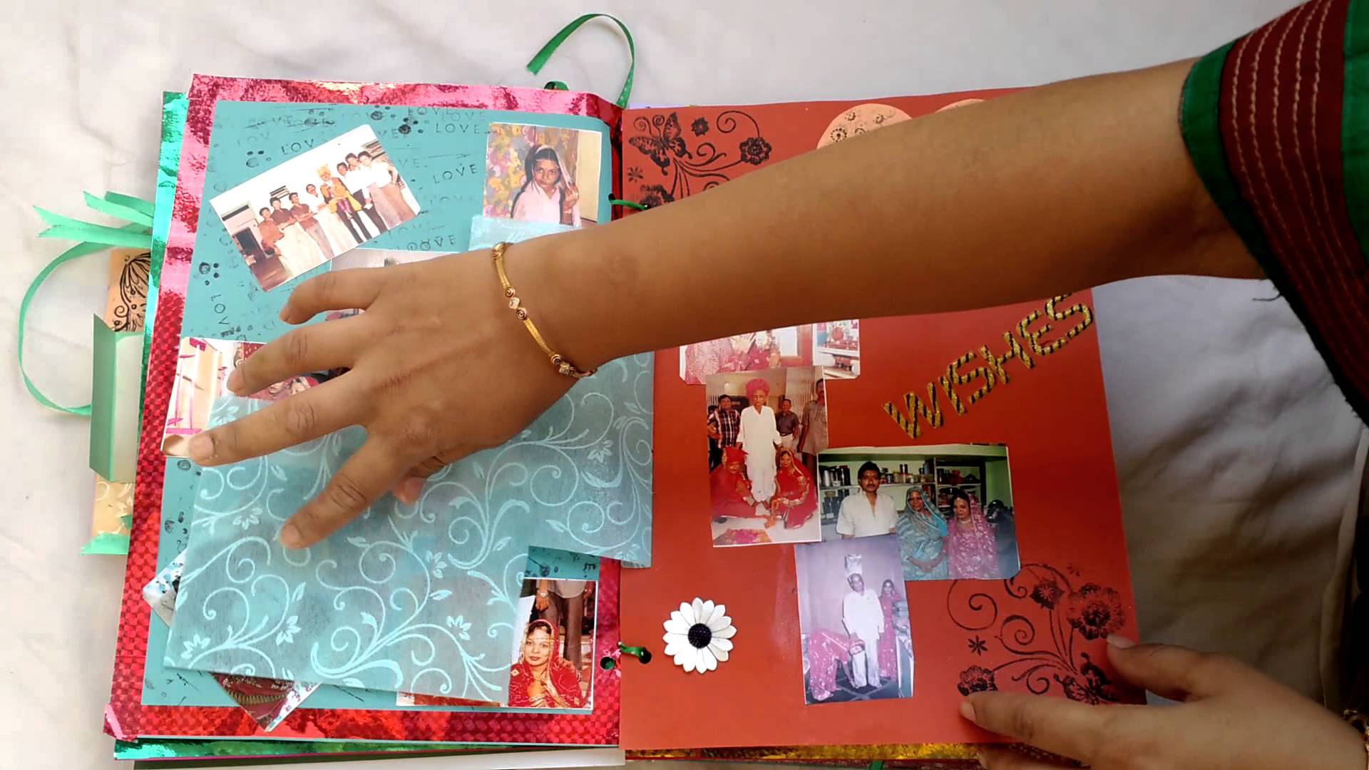 Mother's Day scrapbook.