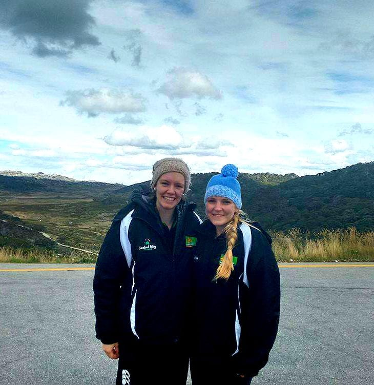 CSU Physio student Claire and her friend Elizabeth.