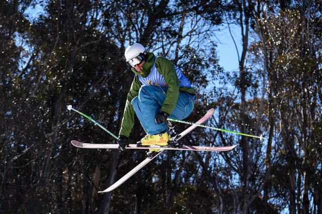 Danny Foster competing at Snow Games