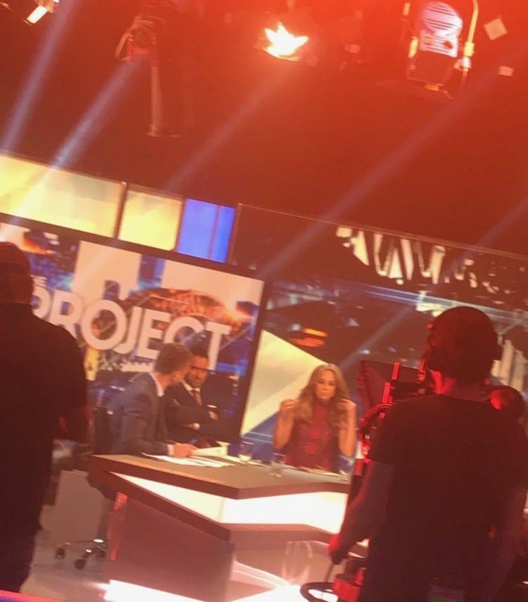 Celebrities on set