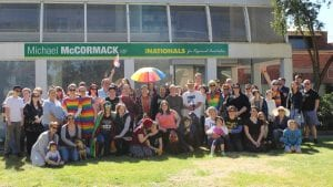 Participants at the marriage equality picnic in Wagga Wagga